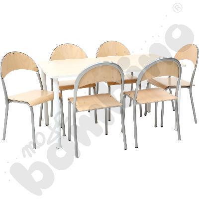 Zestaw - stół Bambino i krzesła P rozm. 3
