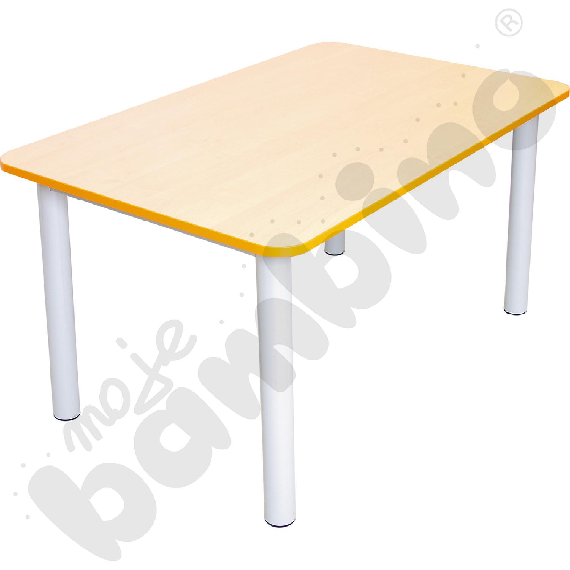 Blat do stołu Premium z pomarańczowym obrzeżem