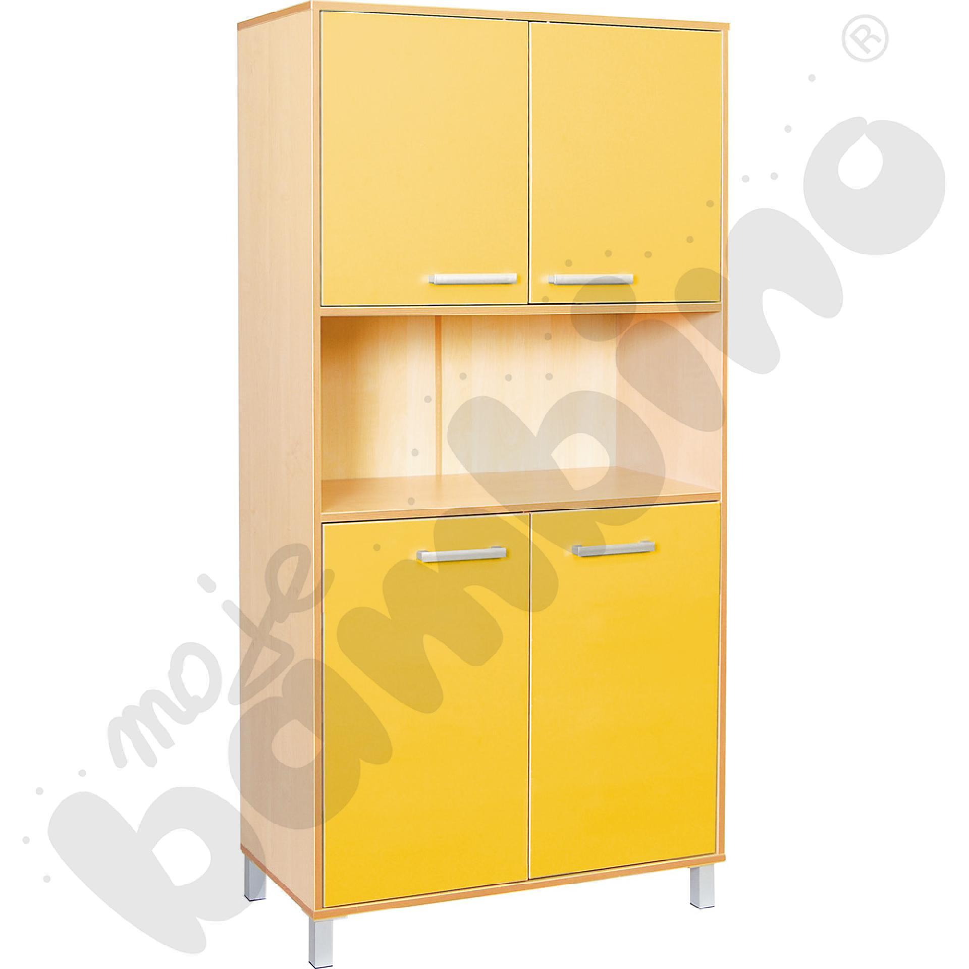 Szafa wysoka Premium z drzwiczkami - żółta