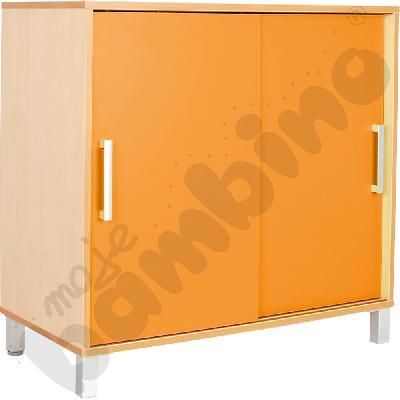 Szafka Premium z przesuwanymi drzwiami - pomarańczowa