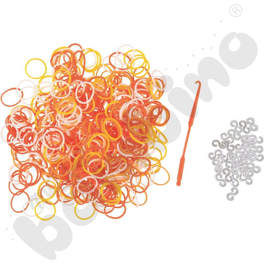 Gumki do bransoletek - pomarańczowe