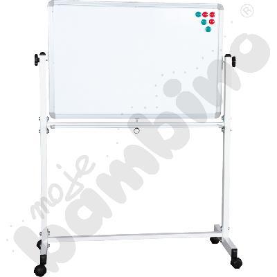 Tablica magnetyczna biała na stojaku wym. 90 x 60 cm