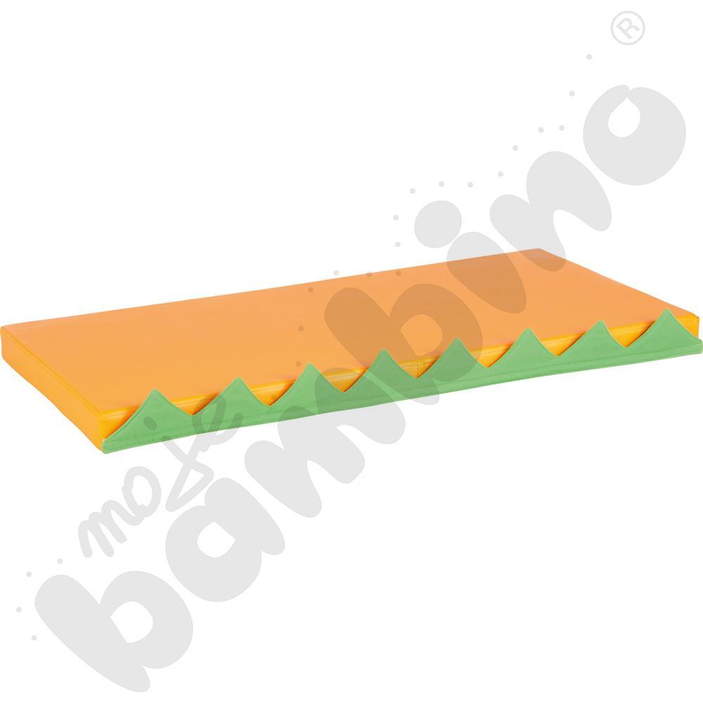 Materac prostokątny z motywem trawy - pomarańczowy