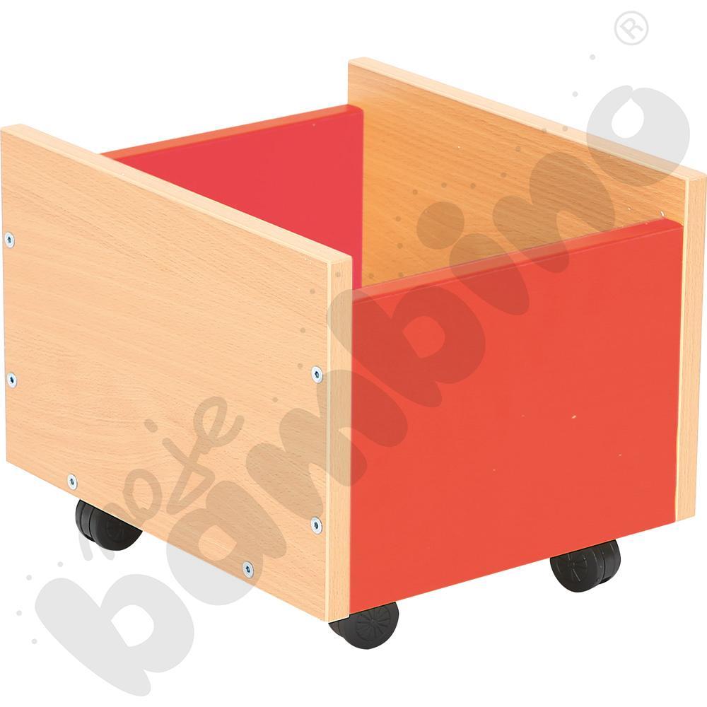 Pojemnik na kółkach czerwony