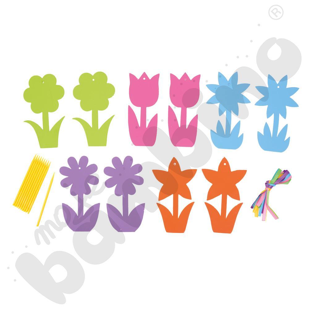 Zawieszki do wydrapywania - kwiatki