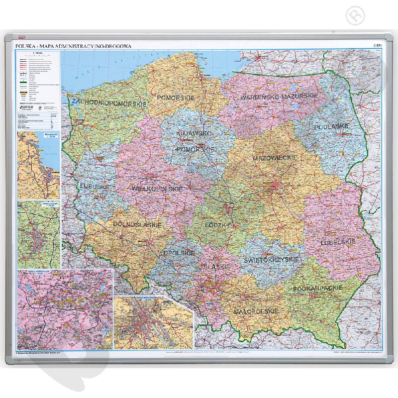 Polska - mapa administracyjna