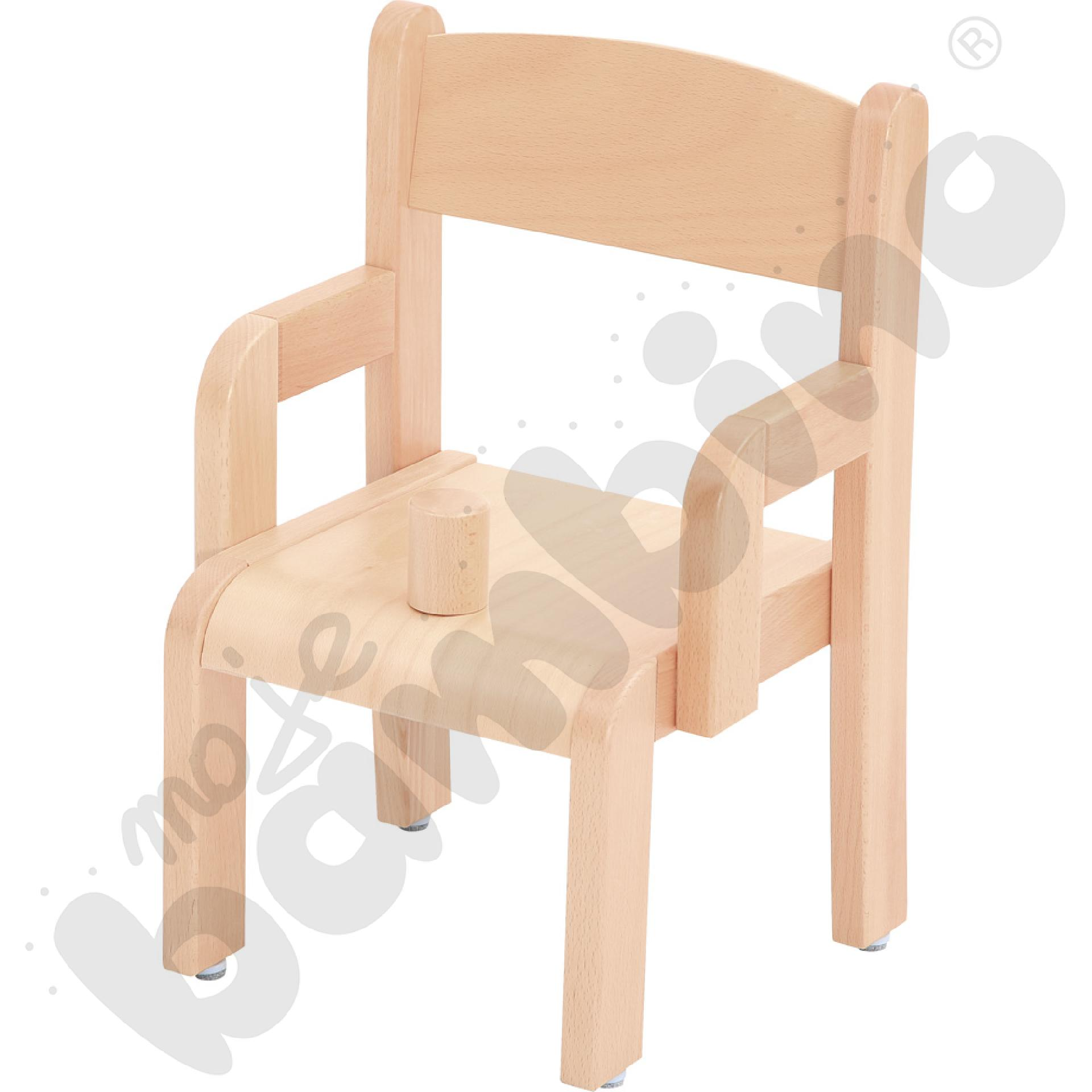 Krzesło z ogranicznikiem i stopką filcową rozm. 1