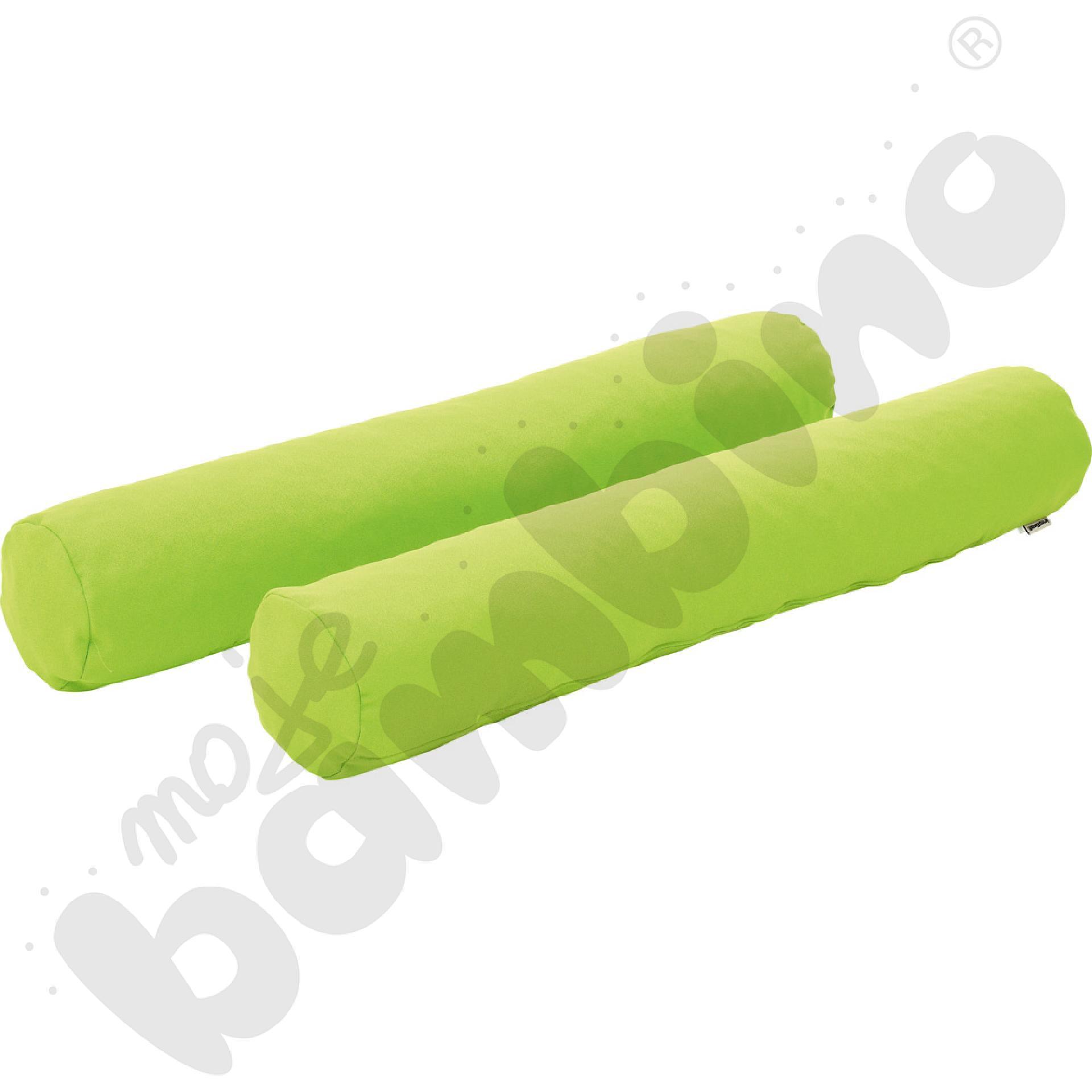 Wałki jasnozielone - tkanina trudnopalna