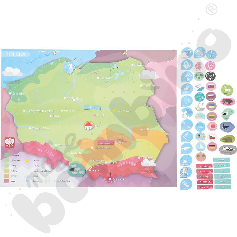 Magnetyczna mapa Polski