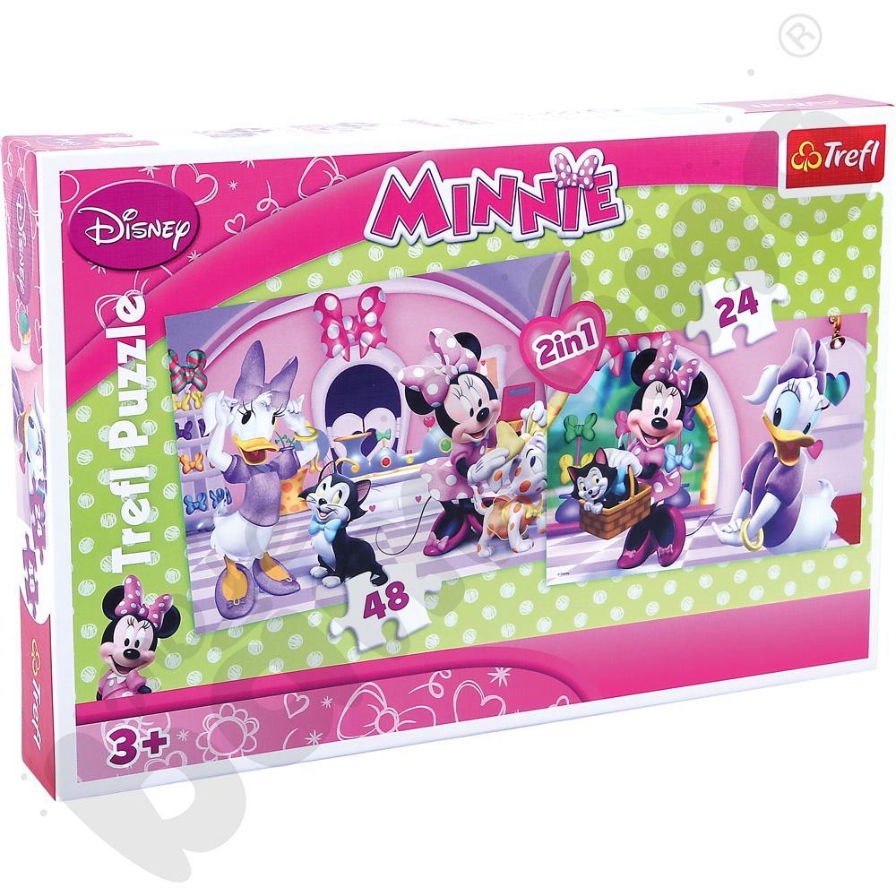 Puzzle 2w1 Minnie na zakupach