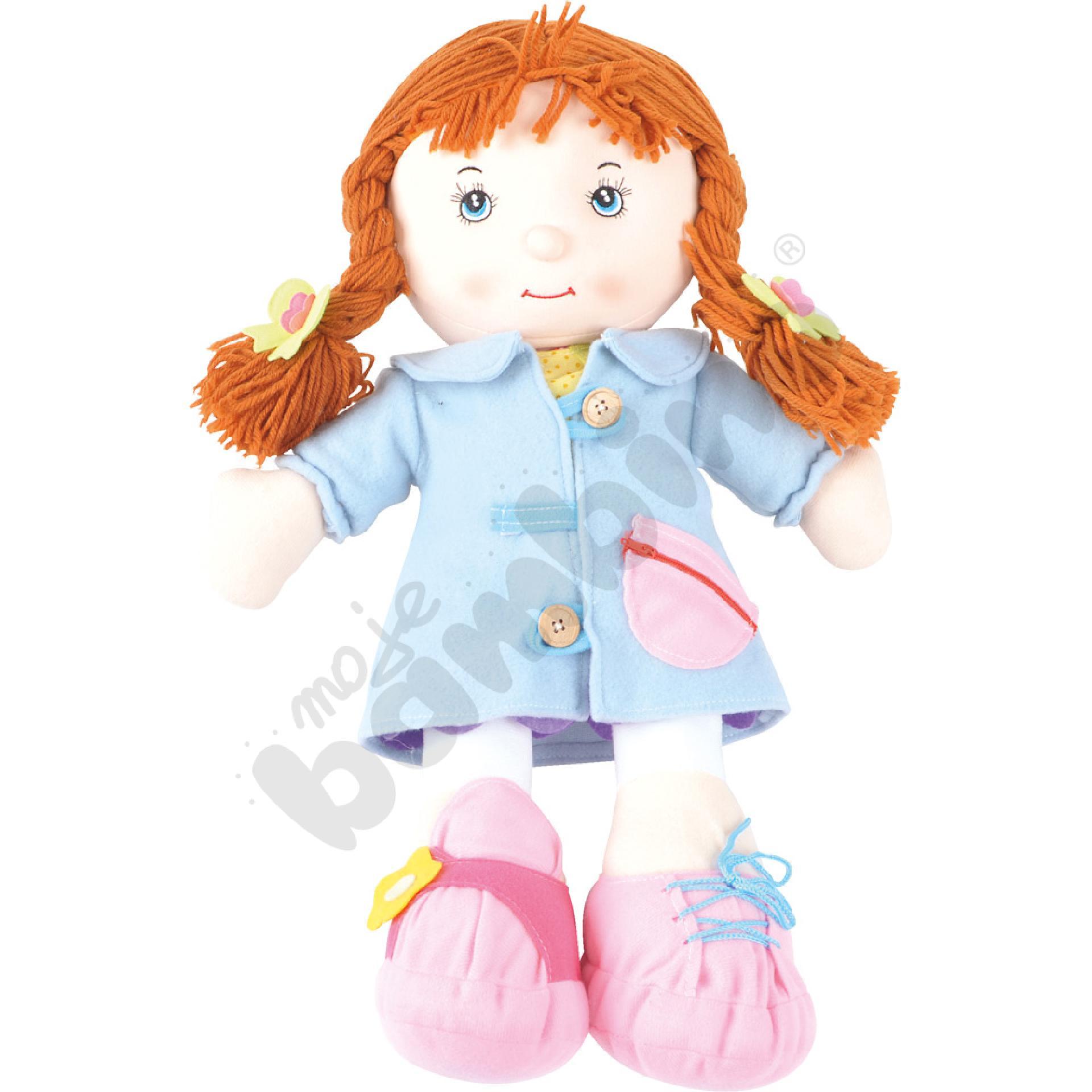 Lalka - dziewczynka z ubrankami