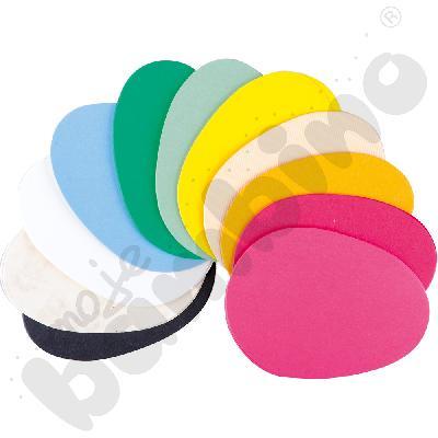 Tekturowe jajka - mix kolorów