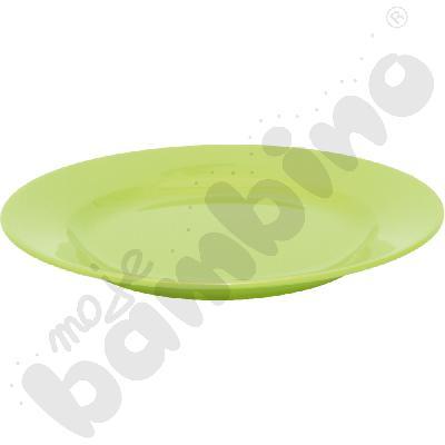 Płytki talerz 23 cm - zielony