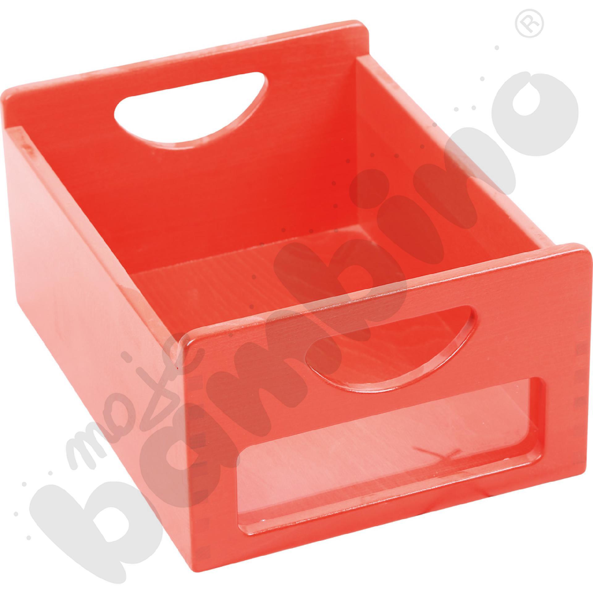 Pojemnik czerwony z okienkiem
