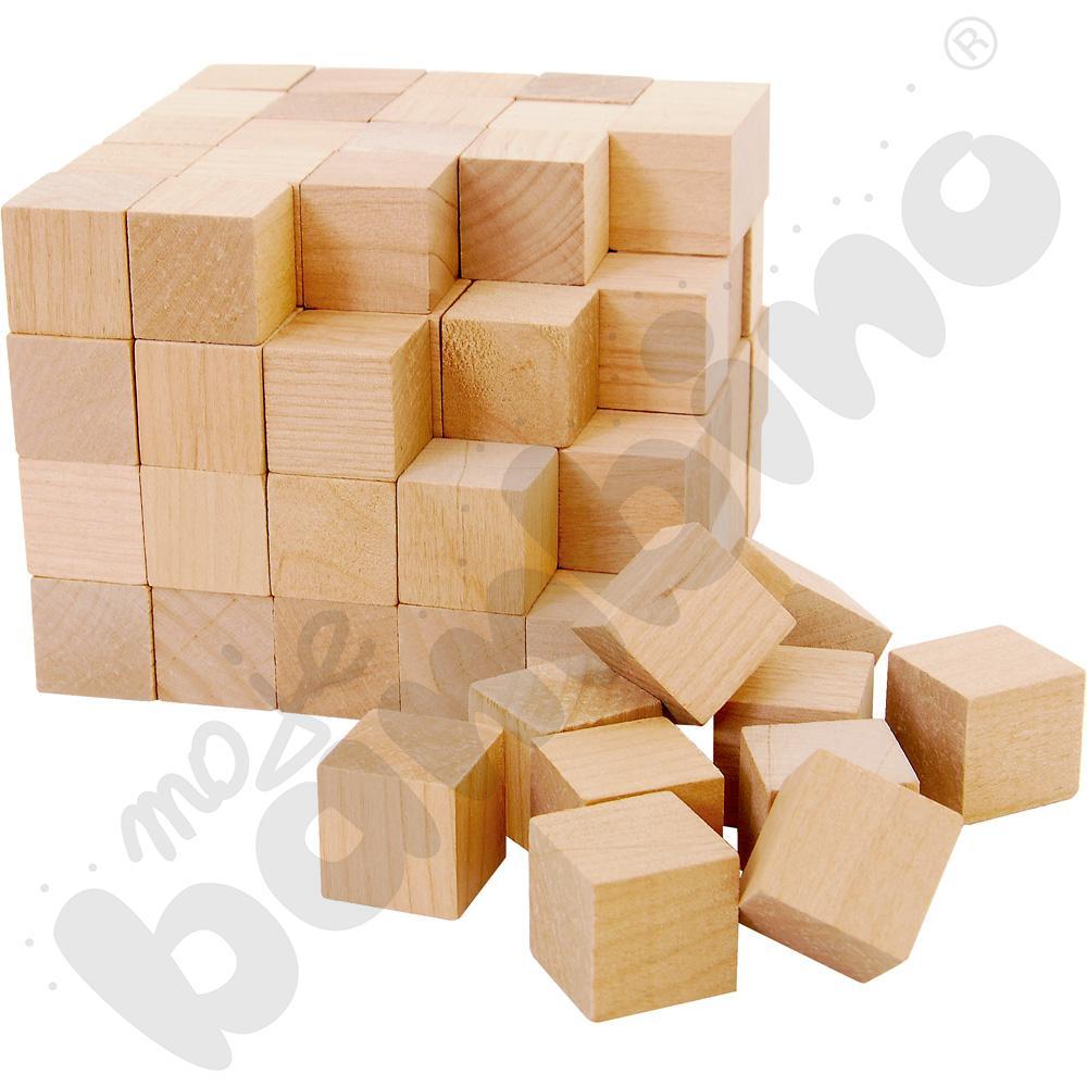Drewniane sześciany