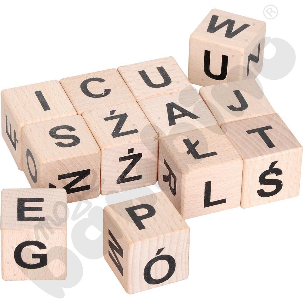 Drewniane klocki - alfabet A, B, C