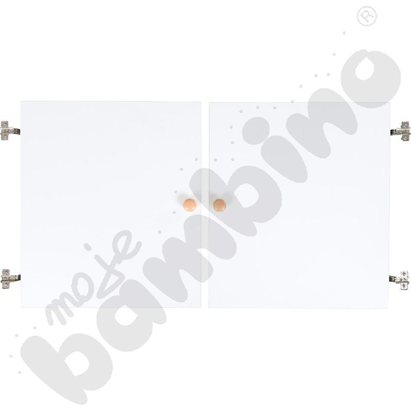 Drzwiczki białe do kredensu na kółkach 092741 (1 para)