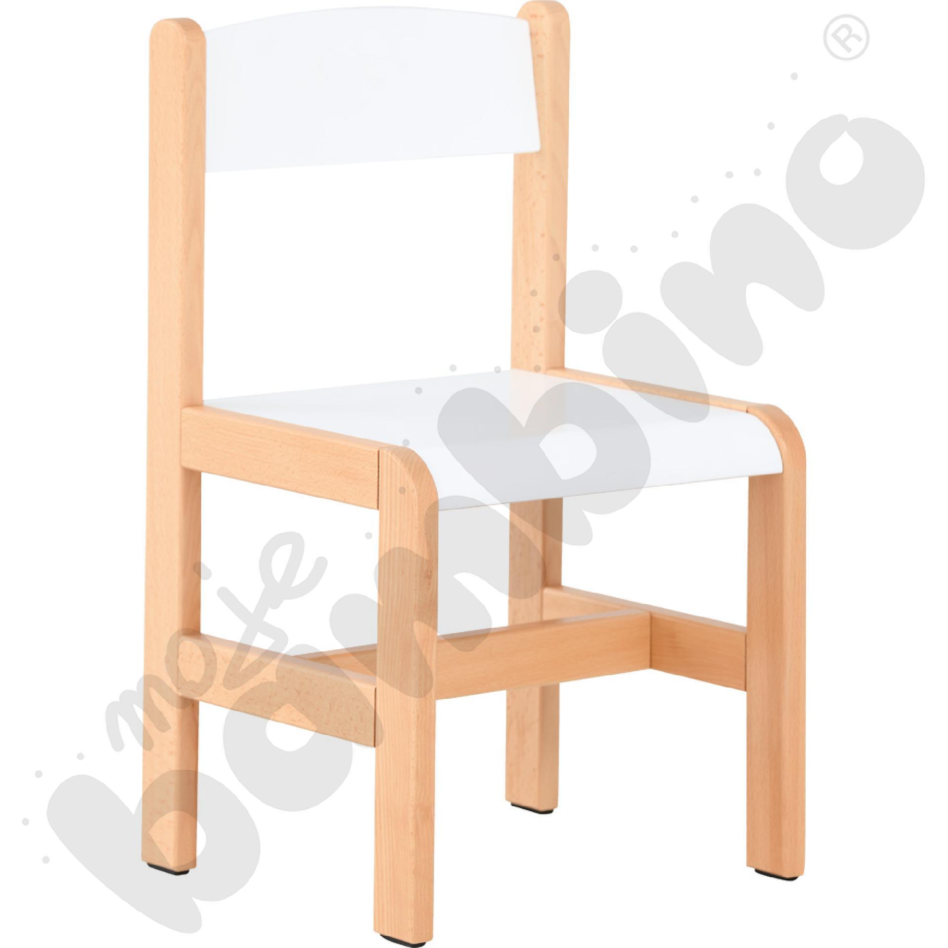 Krzesło drewniane białe,...