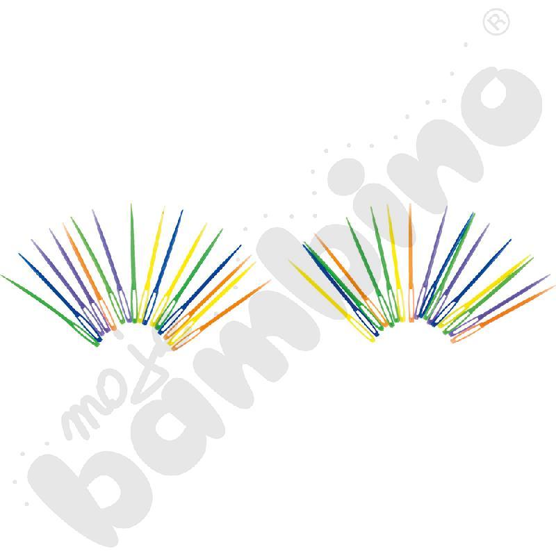 Plastikowe igiełki - krótkie