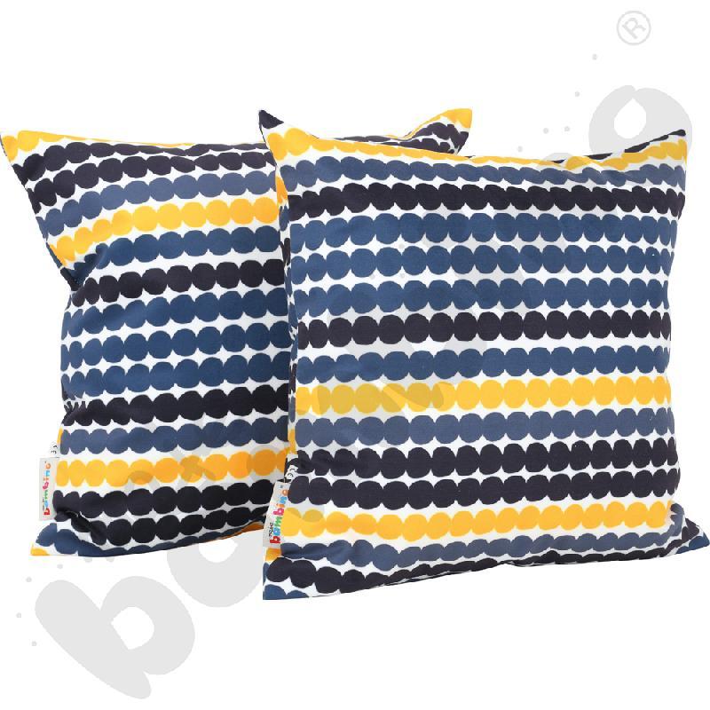Poduszki kwadratowe 2 szt. motyw kółek