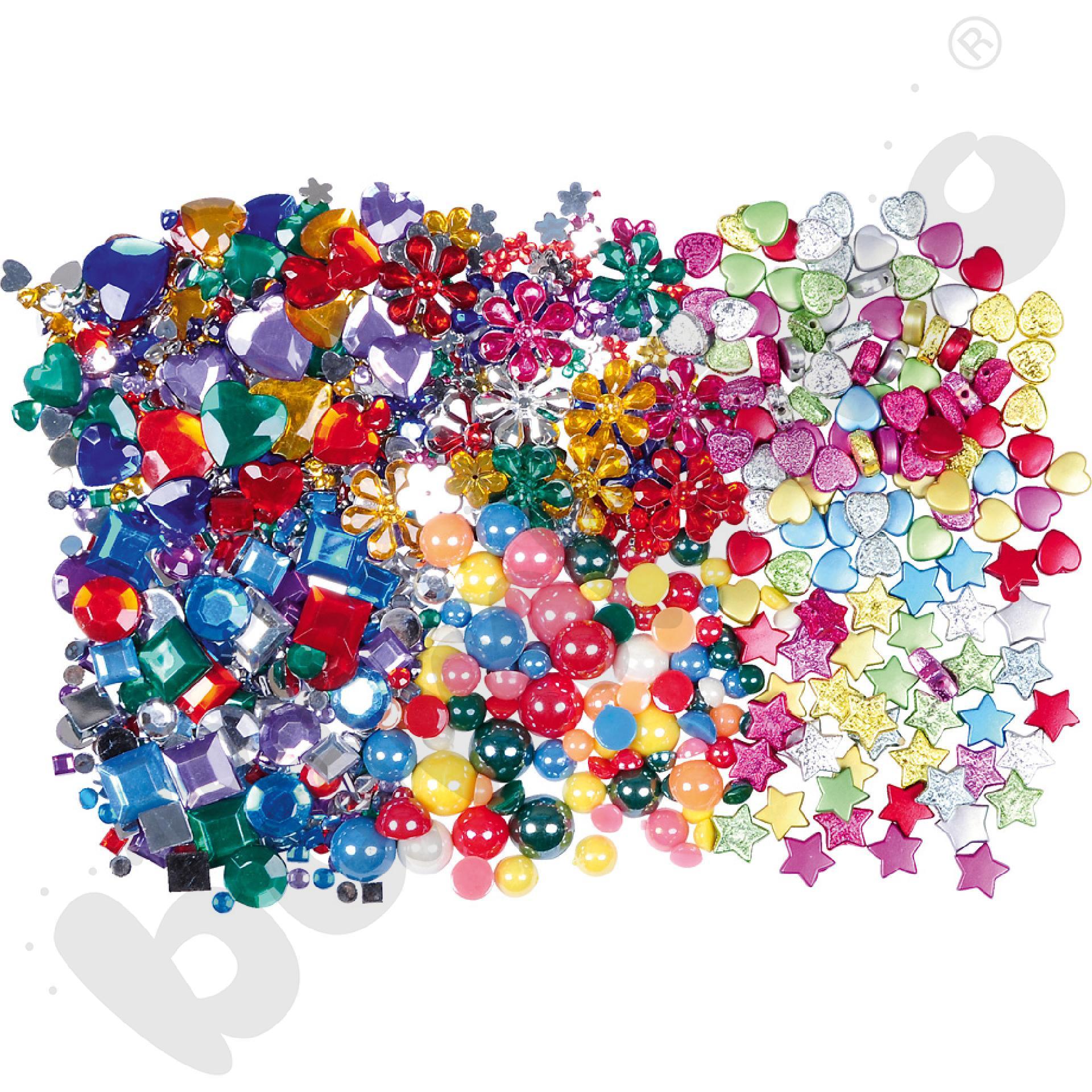 Zestaw kryształków deco - różne kształty
