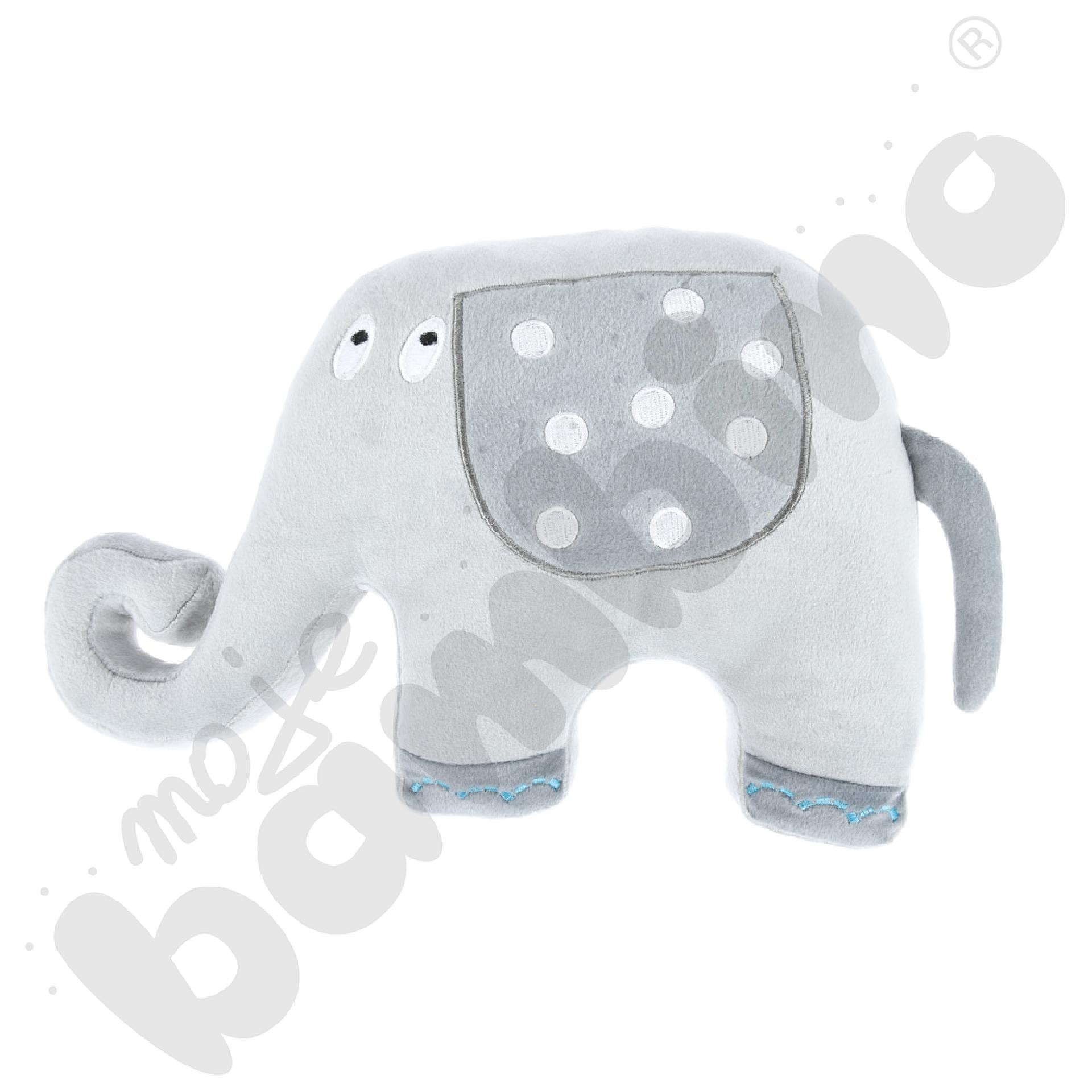 Poduszka FLAT słoń - szaryaaa