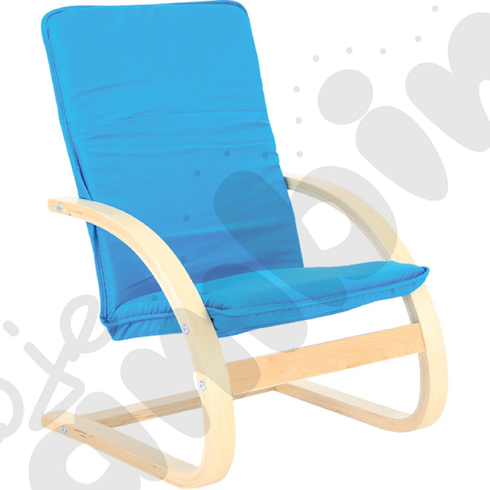Mały fotelik niebieski