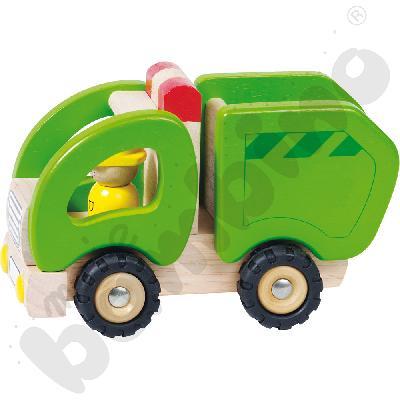 Autko drewniane - śmieciarka