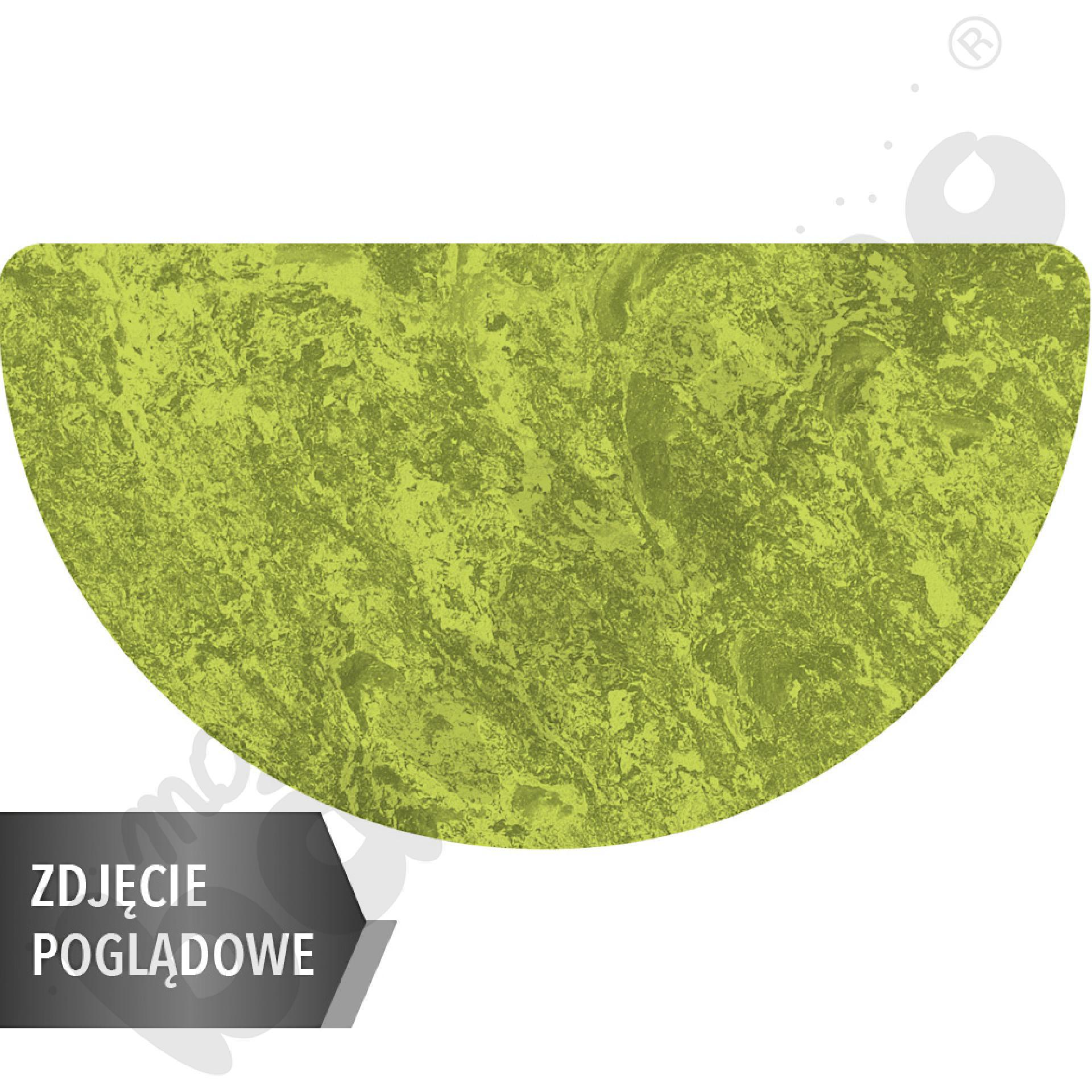 Cichy stół Plus półokrągły, 160 x 80 cm, zaokrąglone narożniki, rozm. 6 - zielony