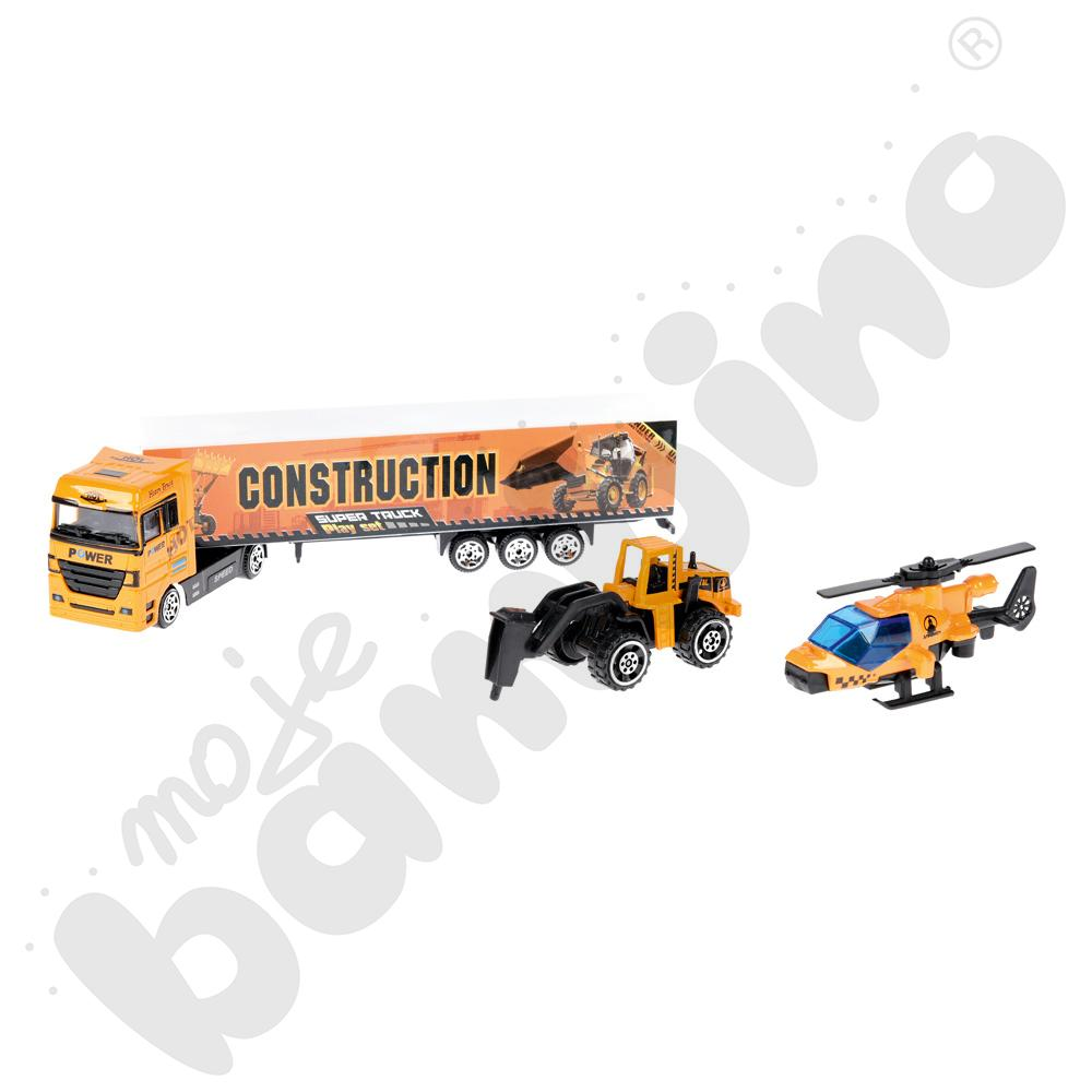 Zestaw pojazdów z ciężarówką mix wzorów