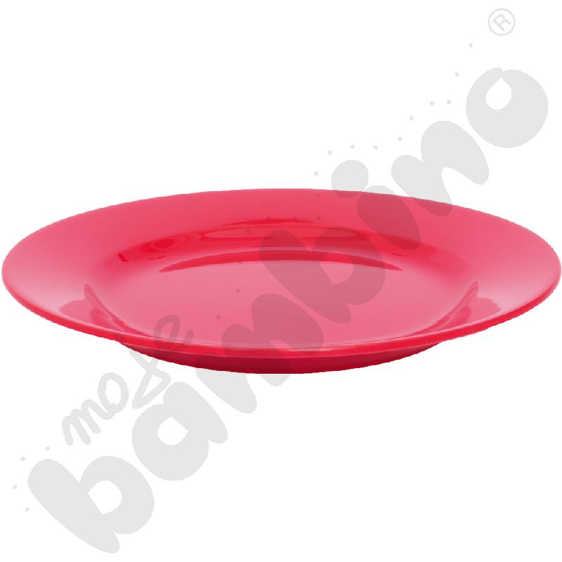 Płytki talerz 23 cm - czerwony