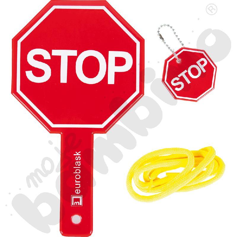 Odblaskowy znak stop dla pieszego
