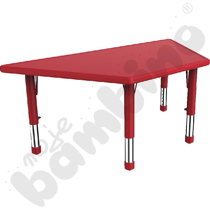 Stół Dumi trapezowy - czerwony