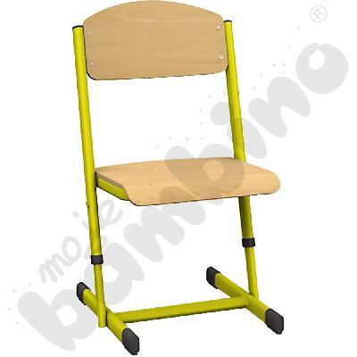 Krzesło T z regulowaną wysokoscią rozm.  5-6 żółte
