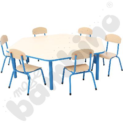 Zestaw Bambino rozm. 1 - stół z krzesłami