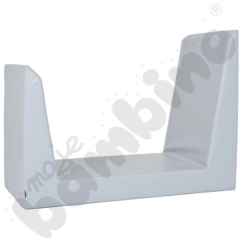 Materac-siedzisko szare