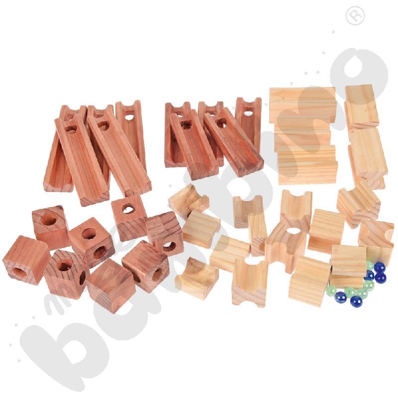 Kulodrom drewniany 45 elem.