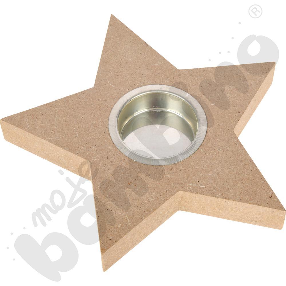 Świecznik - gwiazda do ozdabiania