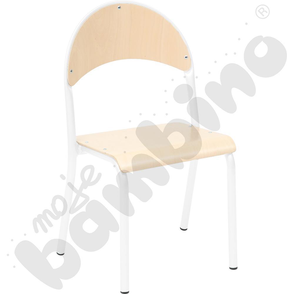 P krzesło nr 3 - biały - buk