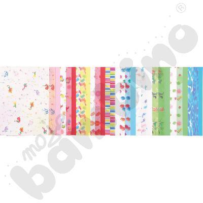 Blok papierów dekoracyjnych - dziecięce motywy