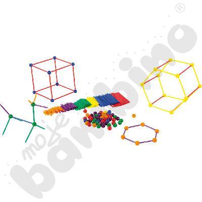 Piłeczki i patyczki do brył geometrycznych