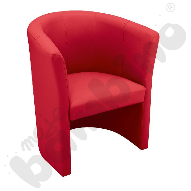 Fotel Club czerwony