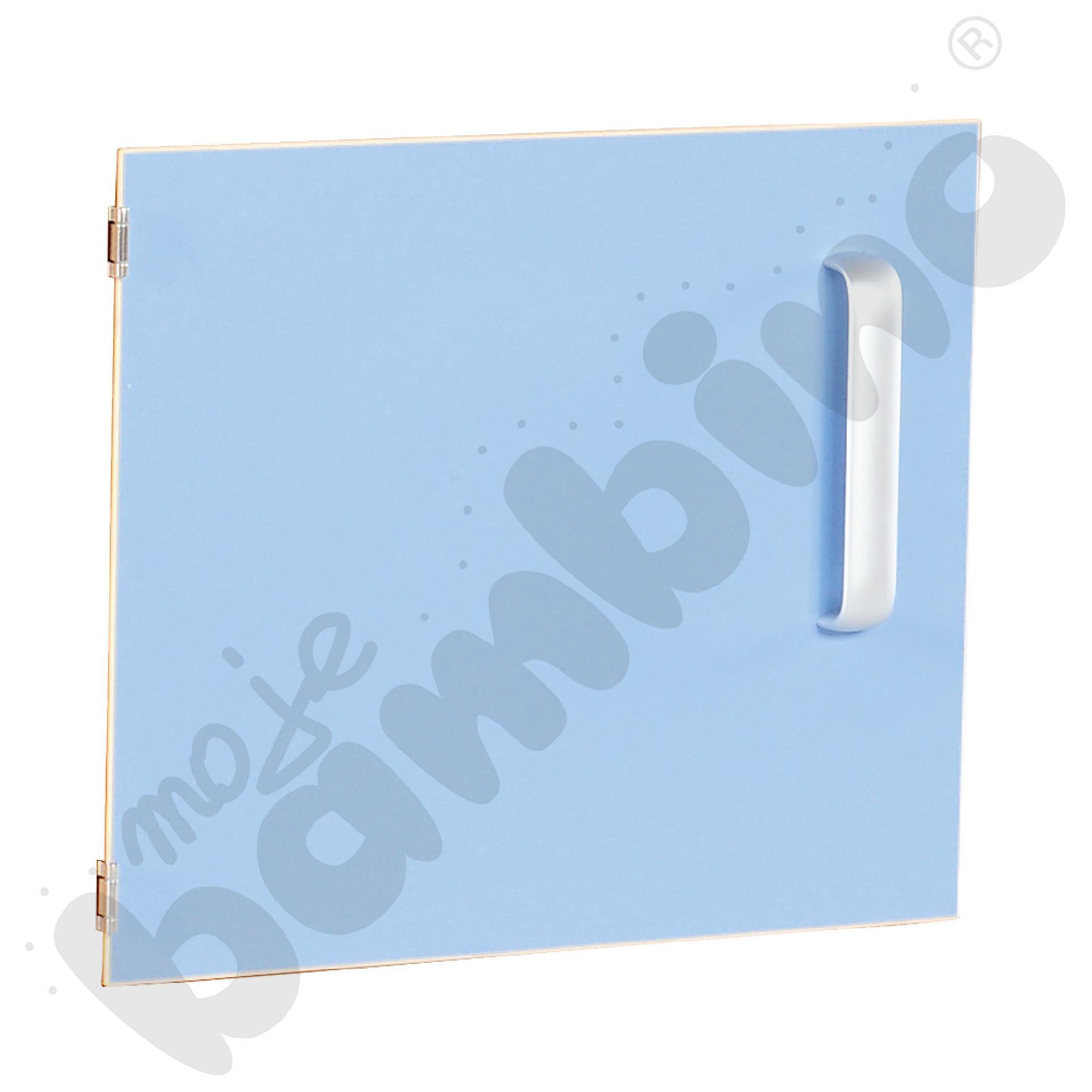 Drzwiczki do szafki M z przegrodą lewe - jasnoniebieskie
