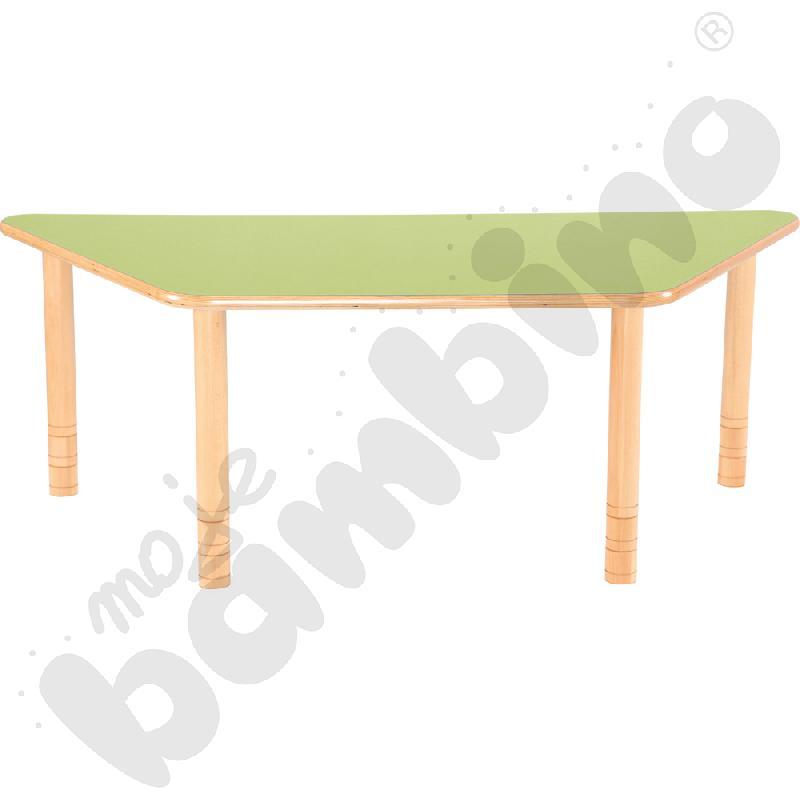 Stół Flexi trapezowy - zielony