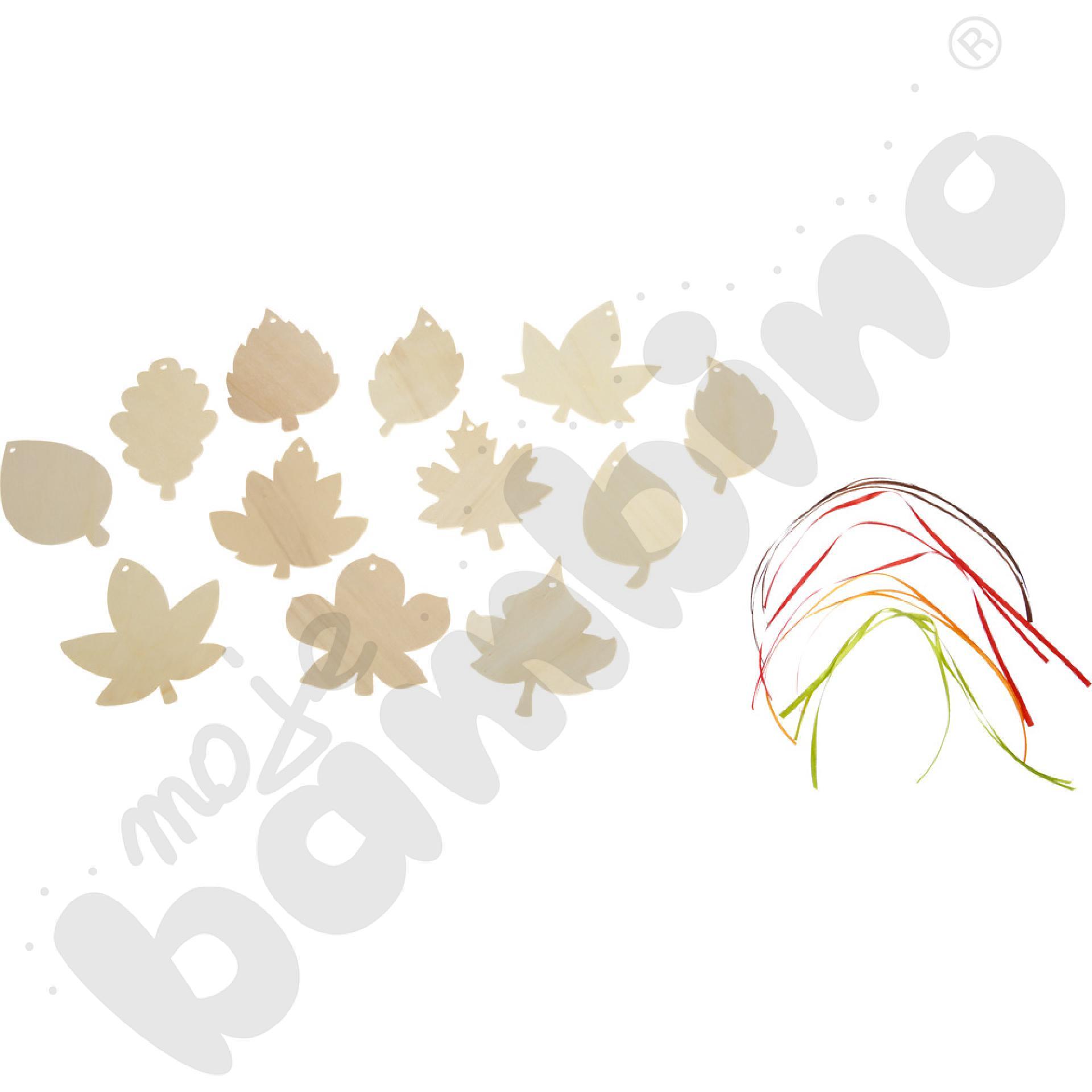 Zawieszki do dekorowania - liście