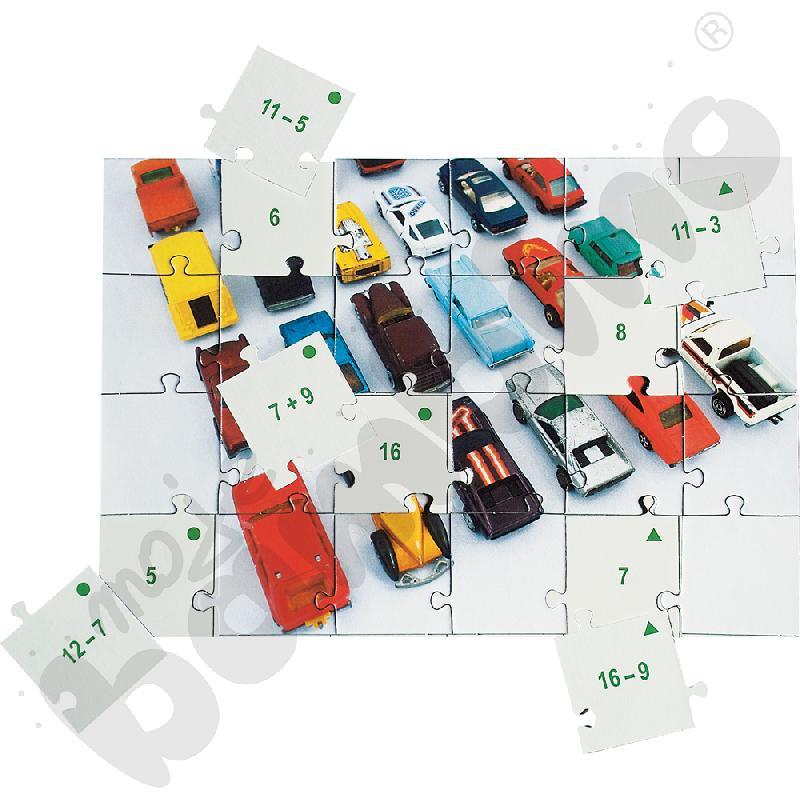 Dodawanie i odejmowanie do 20 - puzzle