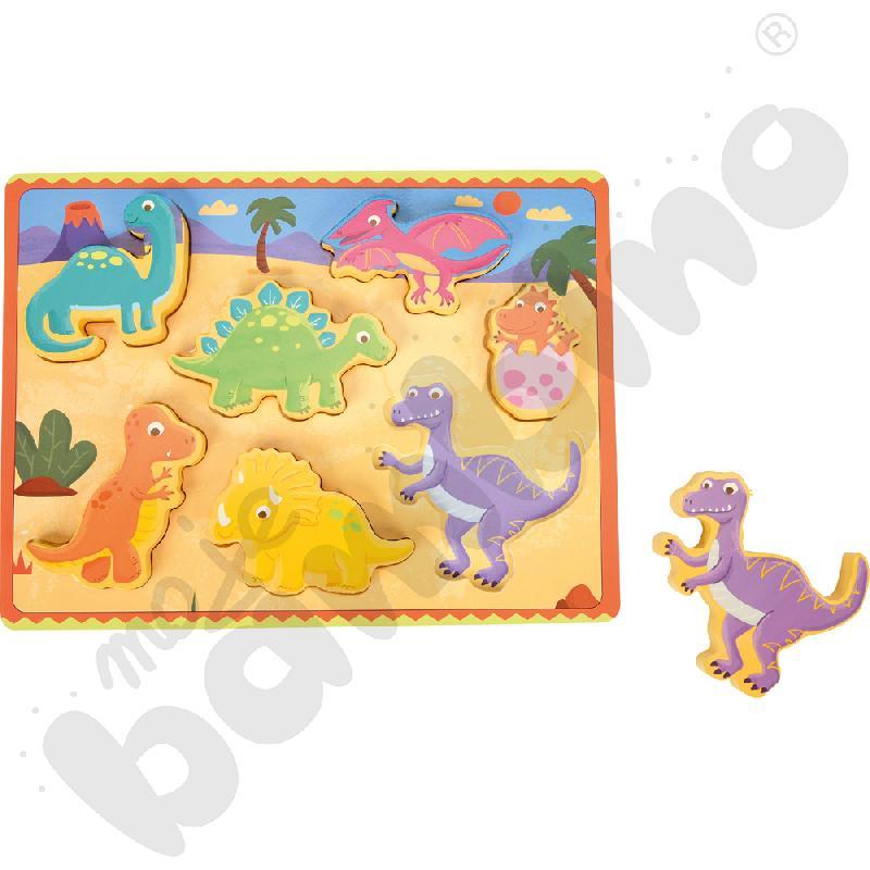 Drewniane puzzle Dinozauryaaa