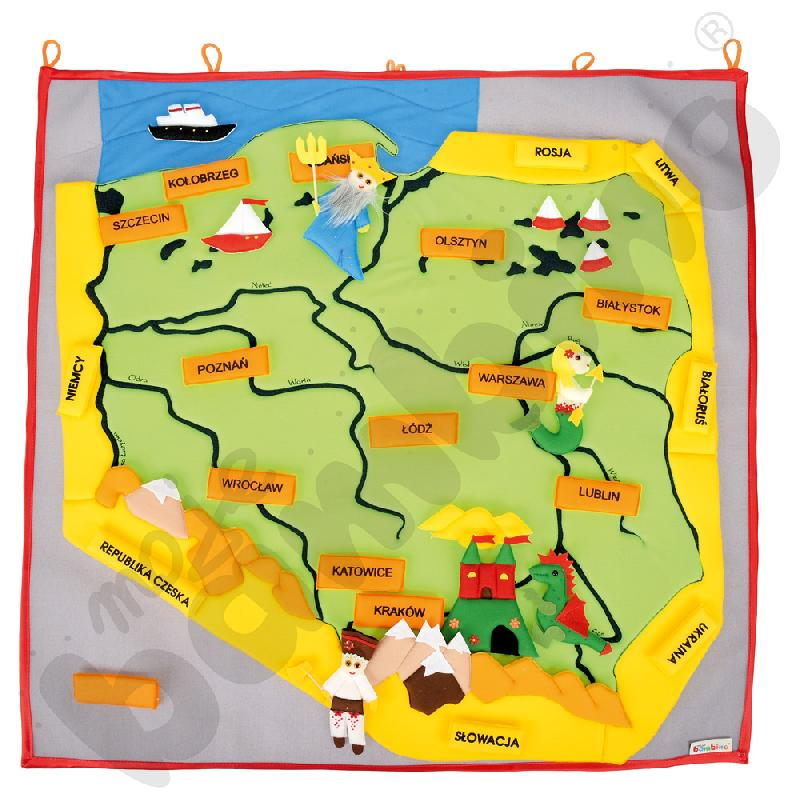 Mapa Polski - makatkaaaa