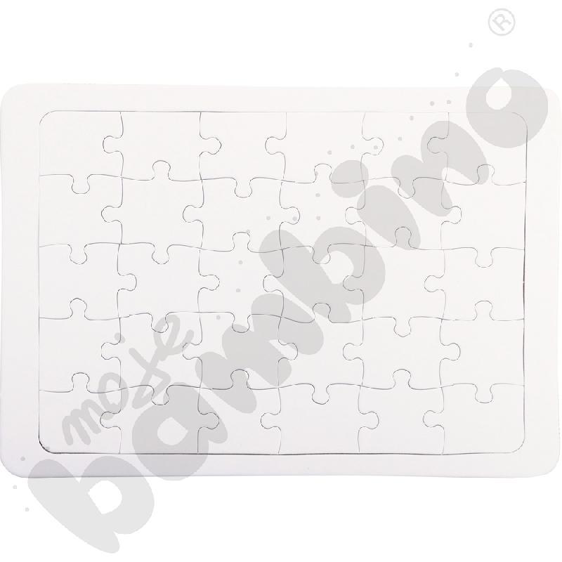 Białe puzzle A4