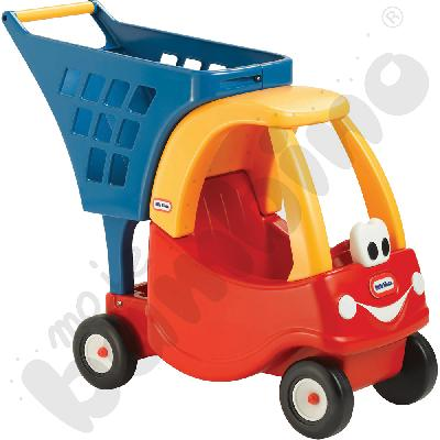 Wózek na zakupy - czerwony